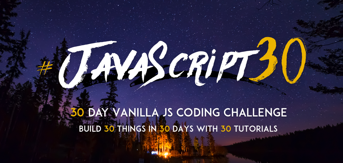 Picture of 30 Days of JavaScript Landing Page